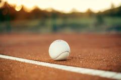 Baseball on field Stock Photography