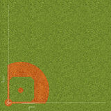 Baseball field. Basic specifications on all levels of adult baseball activity (90-foot basepaths) NOTE: There is no outfield fence designation, as all Stock Image