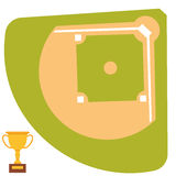 Baseball field cartoon icon batting vector design american game athlete winner sport Stock Photography