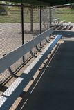 Baseball field dugout. Dugout at a baseball field, city park stock image