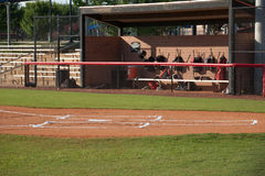 Baseball Field and Dugout Stock Photography