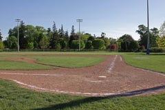 Baseball Field at Dusk Stock Photo