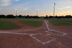 Baseball Field after Dusk Royalty Free Stock Photos
