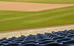 Baseball Field. Empty baseball field and seats Stock Photos