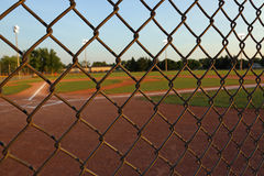 Baseball Field Fence Royalty Free Stock Photos
