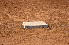 Baseball field first base Stock Photos