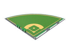 Baseball Field Isolated. On white background. 3D render Royalty Free Stock Image