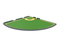 Baseball Field Isolated. On white background. 3D render Royalty Free Stock Images