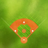 Baseball field. Overhead illustration of baseball field with textured grass background Stock Images
