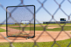 Baseball Field by the Pacific Ocean Stock Image