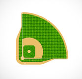 Baseball field with real grass textured, Baseball field with real grass textured, Vector & illustration. Baseball field with real grass textured, Vector Royalty Free Stock Images