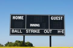 Baseball Field Scoreboard Stock Image