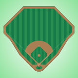 Baseball field. Simple and easy to modify vector image of a baseball field Royalty Free Stock Photo