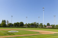A baseball field in a small town in Minnesota, USA. Royalty Free Stock Images