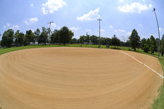Baseball Field in the Summertime Stock Photography