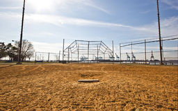 Baseball field. On a sunny day Royalty Free Stock Photography