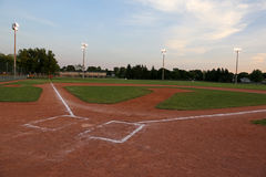 Baseball Field at Sunset Royalty Free Stock Photography