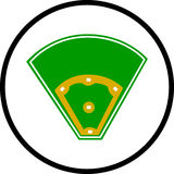 Baseball field vector color symbol Stock Photos