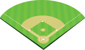 Baseball field vector. Baseball field corner view vector stock illustration