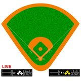 Baseball field vector illustration. Infographics for web pages, sports broadcasts. Baseball field vector illustration. Infographics for web pages, sports stock illustration