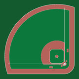 Baseball field. Vector illustration of Baseball field  top view Royalty Free Stock Photos