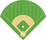 Baseball field. Vector illustration on white Stock Photo