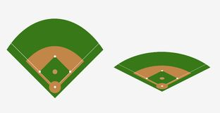 Baseball field vector plan. Stadium base template Royalty Free Stock Photo