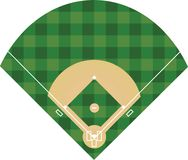 Baseball field on white background. Vector Royalty Free Stock Photos