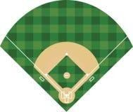 Baseball field on white background. Vector vector illustration