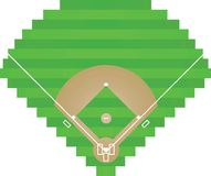 Baseball field on white background. Vector illustration Royalty Free Stock Photos