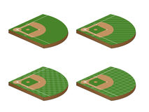 Baseball Fields 3D Perspective 1 Stock Photography