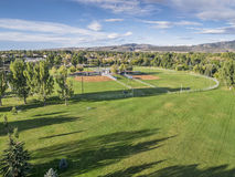 Baseball fields aerail view Royalty Free Stock Images