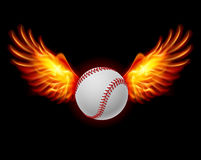 Baseball fiery wings Royalty Free Stock Photography