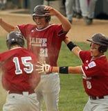 baseball firar den höga serievärlden för ligan arkivfoton