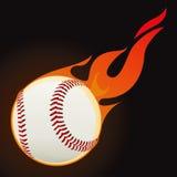 Baseball fire ball. Drawing Stock Images