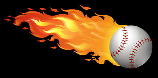 Baseball on fire Stock Photography