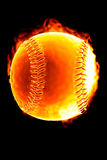 Baseball on fire (Hot serie) Royalty Free Stock Images