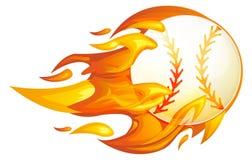 Baseball on Fire Illustration. As EPS 10 File Stock Image