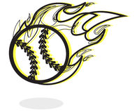 Baseball on Fire Illustration Royalty Free Stock Image