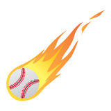 Baseball in Fire. Vector illustration of a Baseball in Fire isolated on white Royalty Free Stock Photography
