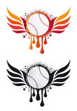 Baseball with fire wings,  Royalty Free Stock Images