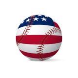 Baseball flag of USA isolated on white background Royalty Free Stock Photography