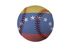 Baseball with the Flag of Venezuela Royalty Free Stock Photos