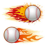 Baseball with flames Royalty Free Stock Images