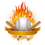 Baseball with flames Stock Photography