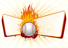 baseball with flames Stock Photos