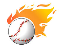 Baseball with flames vector. Illustration Royalty Free Stock Images