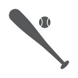 Baseball flat icon ,eps10. Baseball flat vector icon illustration over white background,eps10 Royalty Free Stock Image