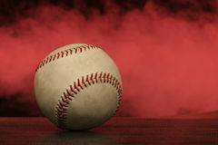 Baseball fog Royalty Free Stock Photos