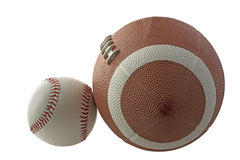 Baseball and football Stock Photos